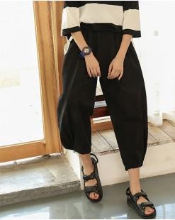 簡約淨色橡筋褲 - 67868 #全店新品4件起75折優惠碼:-25OFF (HK$120) #