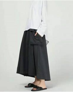韓版秋季雙袋喇叭長裙-83832#全店新品4件起75折優惠碼 : -25OFF (HK$120) #