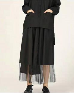 不規則過膝紗長裙-83834 #全店新品4件起75折優惠碼 : -25OFF (HK$128) #