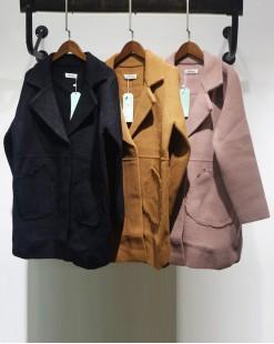 韓版淨色大翻領雙口袋外套 - 2032A #特價優惠5折:HK$212 #