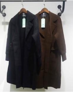 氣質翻領毛絨雙口袋排釦大衣外套 - 2045C #特價優惠5折:HK$340#(韓國直送)