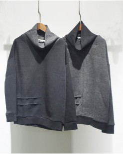 簡約淨色棉質高領衛衣-2050A #特價優惠5折:HK$85 #