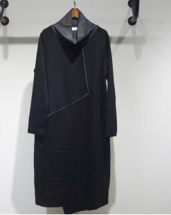 淨色高領不規則連身裙 - 2051A #特價優惠5折:HK$85#