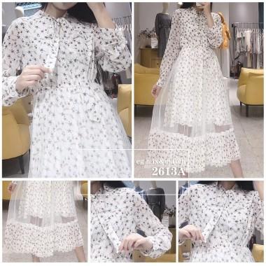 雪紡連身裙 - 2613A