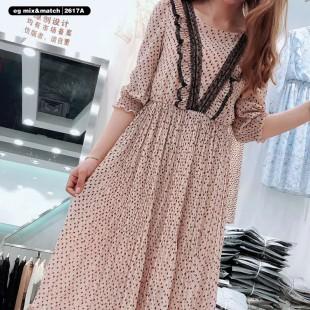 雪紡連身裙 - 2617A