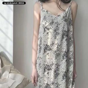 雪紡連身裙 - 2693A