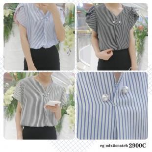 韓國 OL款恤衫 - 2900C
