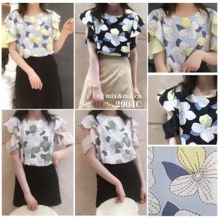 韓國 OL款恤衫 - 2904C