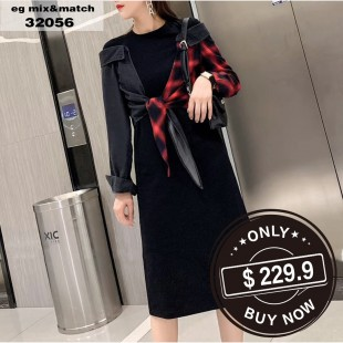 時尚連身裙 - 32056