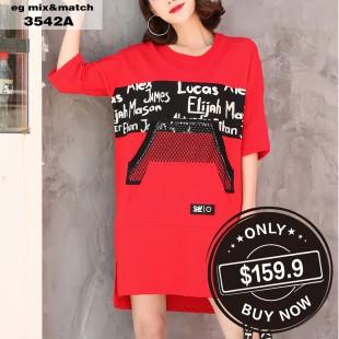時尚連身裙- 3542A
