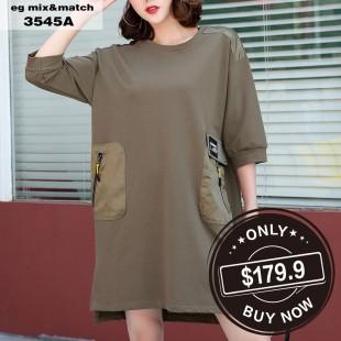 時尚連身裙- 3545A