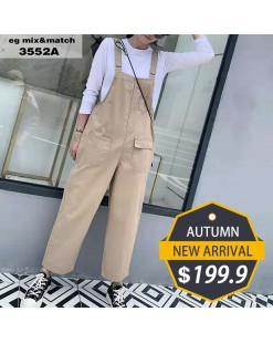 【新品】淨色直筒工人褲 - 3552A  #全店新品4件起75折:HK$150 #