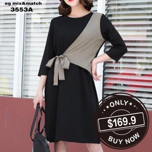 時尚連身裙- 3553A