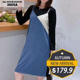 時尚連身裙- 3605A