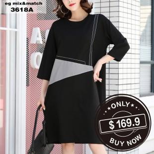 時尚連身裙 - 3618A