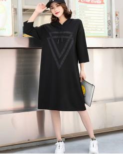 簡約淨色鬆身棉質長T - 3619A #全店新品4件起75折優惠碼 : -25OFF (HK$128) #