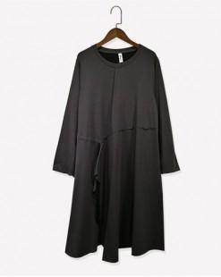 設計線條抽繩鬆身連身裙- 3642A #全店新品4件起75折優惠碼 : -25OFF (HK$113) #