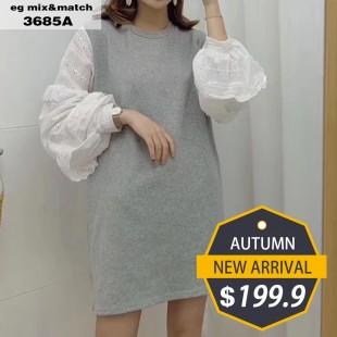 時尚連身裙- 3685A