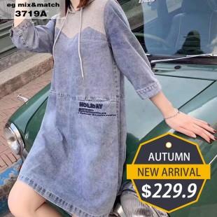 時尚連身裙- 3719A