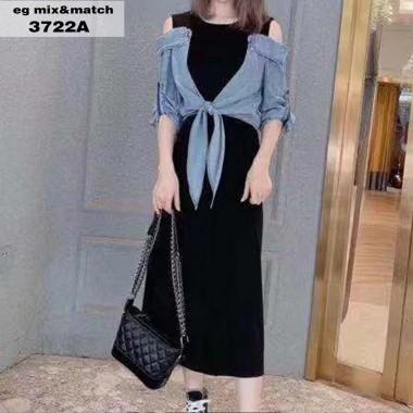 時尚連身裙 - 3722A