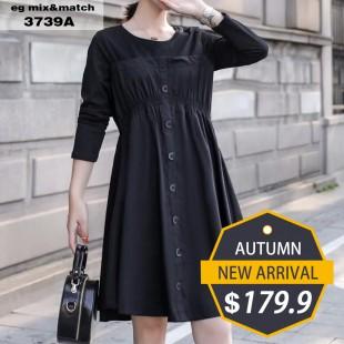 時尚連身裙 - 3739A