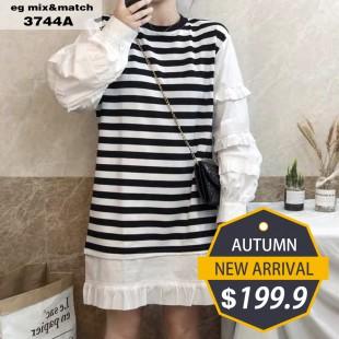 時尚連身裙- 3744A