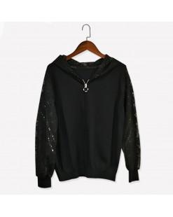 【新品】 淨色蕾絲袖短外套 - 3750A  #全店新品4件起75折:HK$165#