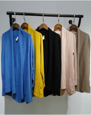【新品】淨色開胸線外套-3761A #全店新品4件起75折:HK$105#