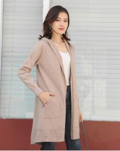 【新品】 新款簡約兜帽開襟衫 -3764A   #全店新品4件起75折:HK$128