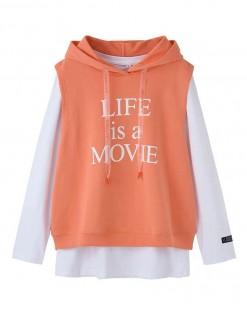 LIFF is a MOVIE 針織連帽兩件套 - 3769A #  精選貨品7折優惠價:HK$126 #