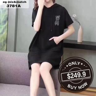 時尚連身裙 - 3781A