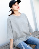 淨色設計感鬆身中袖T - 3794A # 精選貨品7折優惠價:HK$105 #