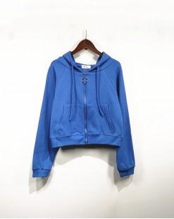 短身拉鏈連帽針織外套- 3824A #全店新品4件起75折:HK$90#