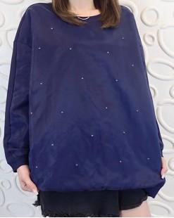 【新品】打珠拼紗網珠地全棉衛衣- 3831A #全店新品4件起75折:HK$120#