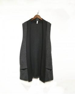 韓版馬甲針織開襟衫 - 3856A #全店新品4件起75折優惠碼 : -25OFF (HK$145) #