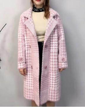 【新品】千鳥格孖襟大衣外套-3938A  #全店新品4件起75折:HK$255 (韓國直送)#