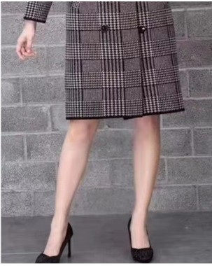 [新品]  經典格紋雙排扣韓版大褸 - 3970A  #全店新品4件起75折:HK$383 (韓國直送)#