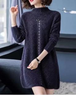 【新品】優雅質感柔軟長版冷衫 - 3972A #全店新品4件起75折:HK$150#