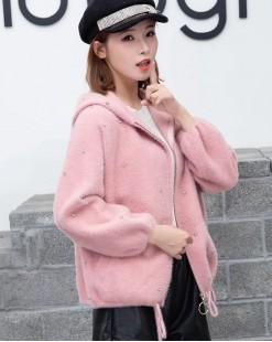 【新品】 淨色可愛連帽絨外套 - 3974A   #全店新品4件起75折:HK$180 #