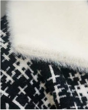 【新品】 格仔翻領絨毛短外套 - 3977A #全店新品4件起75折:HK$319 (韓國直送)#