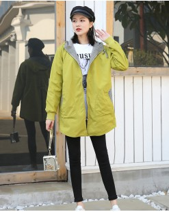 【新品】時尚格仔拼色連帽外套 - 3982A #全店新品4件起75折:HK$225#