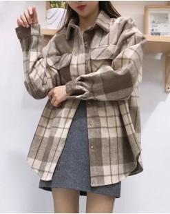 【新品】時尚厚實撞色鈕扣格仔恤衫- 4029A #全店新品4件起75折優惠碼: -25OFF (HK$120) #