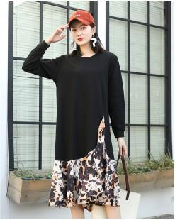 【新品】 氣質顯瘦拼色針織連身裙 - 4040A #全店新品4件起75折:HK$150 #