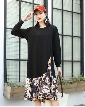 氣質顯瘦拼色針織連身裙 - 4040A #精選貨品7折優惠價:HK$140 #