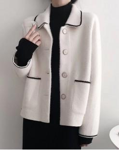 【新品】 韓版娃娃領雙口袋氣質短外套 - 4049A #全店新品4件起75折:HK$225 #