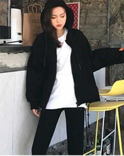 淨色棉外套 - 4198A #全店新品4件起75折優惠碼 : -25OFF (HK$225 )