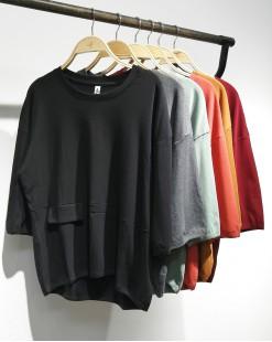 【新品】春裝新款不規則傘型棉質上衣 - 4339A #全店新品4件起75折優惠碼 : -25OFF (HK$75)