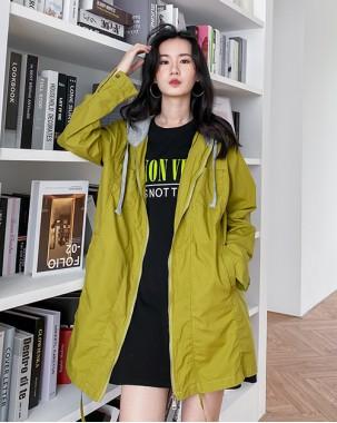 韓國直送HUMMING BIRD 時尚淨色側口袋連帽外套 -4345C  #精選貨品5折優惠價:HK$120 #
