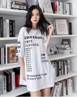 【新品】春裝新款簡約字母鬆身上衣 - 4366A #全店新品4件起75折優惠碼 : -25OFF (HK$135 )