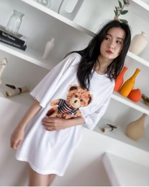 【新品】春裝新款簡約印花圖案上衣T - 4371A #全店新品4件起75折優惠碼 : -25OFF (HK$135 )